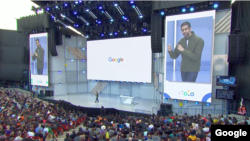 Google CEO Sundar Pichai led off the Keynote address for the company's I/O 2018 developers' conference in Mountain View, California on May 8, 2018. (Google)