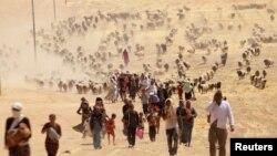 Êzîdîyên ku DAIŞê direvin ber bi Rojava ve diherin