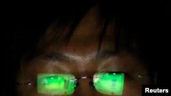 Хакер за работой. Фото Рейтер