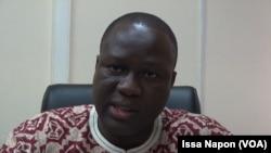 Le directeur commerciale et de la clientèle de la Société Nationale d'électricité du Burkina, Sonabel Souleymane Ouédraogo, à Ouagadougou, 14 juin 2017. (VOA/Issa Napon)