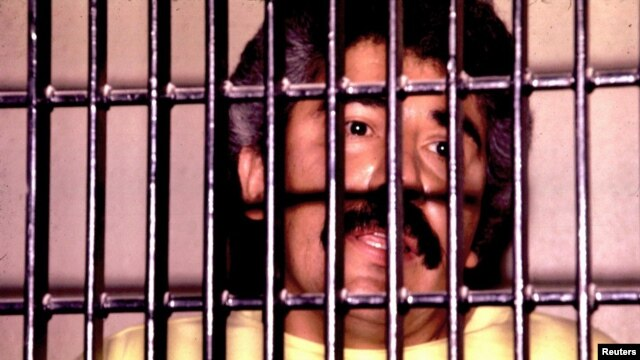 Mexican drug lord Rafael Caro Quintero behind bars, undated file photo.