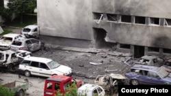 Policijska stanica Bugojno nakon napada 2010. godine. Izvor: BIRN BIH