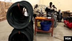 Bicycle factory in Kisumu, Kenya