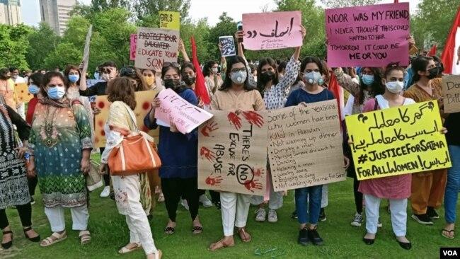 نور مقدم کے قتل پر انسانی حقوق اور خواتین کی تنظیمیں سراپا احتجاج ہیں۔