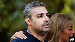 Wartawan al-Jazeera ketika baru saja dibebaskan dari penjara di Kairo, Mesir, Mohammed Fahmy (foto: dok).
