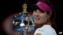2014年1月25日李娜在澳網贏得大滿貫