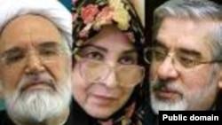 میرحسین موسوی، زهرا رهنورد و مهدی کروبی