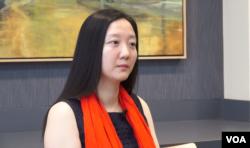 史汀森中心研究员孙云 (美国之音 莫非拍摄)
