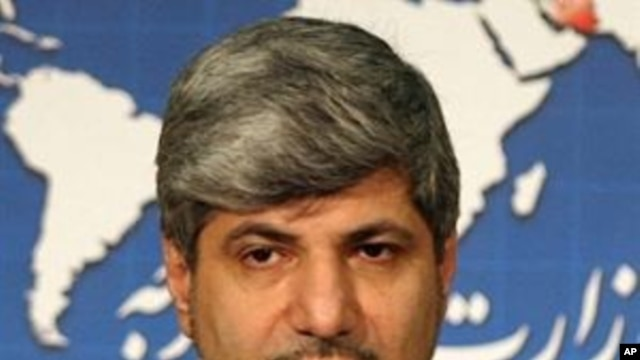 Iranian foreign ministry spokesman Ramin Mehmanparast during a press conference in Tehran (File Photo)