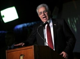 Hamdeen Sabahi, seeking Egypt's presidency, speaks at a rally in central Cairo May 23, 2014.