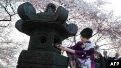 Церемония открытия фестиваля цветения сакуры в Вашингтоне