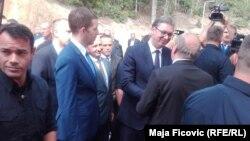 Posetu Kosovu Vučić je počeo u Zubinom Potoku