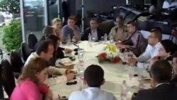 Berisha, takim me gazetarët në Shkodër