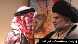 مقتدی الصدر با احمد الکبیسی روحانی سنی در شهر ابو ظبی ملاقات کرد