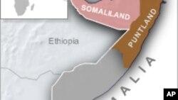 Peta wilayah Puntland di Somalia di mana terjadi serangan bom bunuh diri di kota Galkayo (foto: ilustrasi).