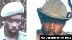 """FILE - Lord's Resistance Army commander Okot Odhiambo pictured in undated """"wanted"""" poster."""