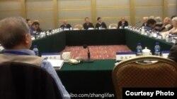 改革派在北京召开推动政改研讨会(章立凡微博图片)