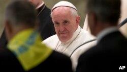 Le pape François au Vatican, le 12 novembre 2015. (AP Photo/Andrew Medichini)