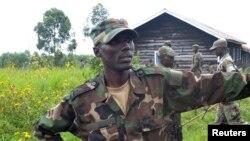 Le général Sultani Makenga, leader militaire du M23 (27 mai 2013)