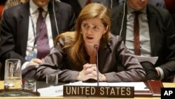 """U.S. Ambassador to the United Nations Samantha Power says the Security Council is moving forward with targeted sanctions against """"political spoilers"""" who are blocking peace in South Sudan."""
