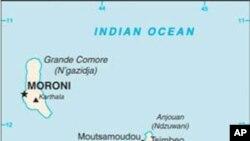 Ramani ya visiwa vya Comoros