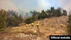 Požar na Lovćenu (mod.gov.me)
