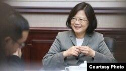 蔡英文接受台灣《自由時報》採訪(摘自蔡英文臉書)
