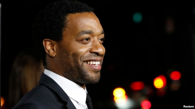 "Cast member Chiwetel Ejiofor poses at a special screening of ""12 Years a Slave"" at the Directors Guild of America, Los Angeles, Oct. 14, 2013."