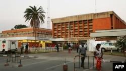 Une vue de l'hôpital universitaire à Lusaka, le 21 septembre 2017.