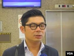 台湾在野党国民党立委许毓仁(美国之音张永泰拍摄)