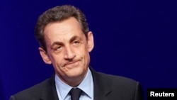 France's former president Nicolas Sarkozy (April 2012 file photo).