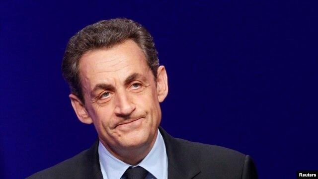 FILE - France's former president Nicolas Sarkozy.