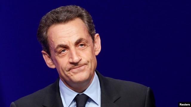 France's former president Nicolas Sarkozy (April 2012 file photo).