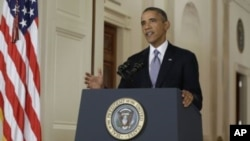 U.S. President Barack Obama addresses the nation.