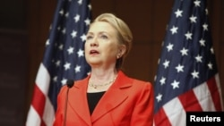 美國國務卿克林頓7月24日在華盛頓發表演講