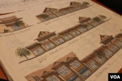 """欧文斯准备建设的""""亚洲城""""项目的图景 (美国之音龚小夏拍摄)"""