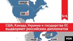 Страны, выдворившие российских дипломатов