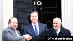 افغان صدر برطانوی اور پاکستانی وزرائے اعظم کے ہمراہ