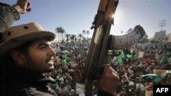 Сторонники Каддафи, Триполи 6 марта 2011