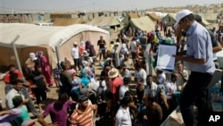 Лагерь сирийских беженцев в Дахуке. Ирак.