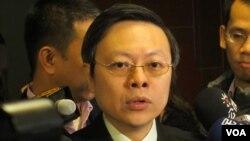台灣陸委會主委 王郁琦(美國之音張永泰拍攝)