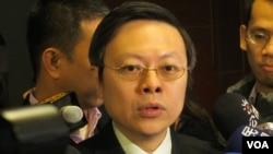 台灣陸委會主委王郁琦(美國之音張永泰拍攝)