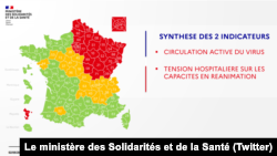 Corona virus data in France