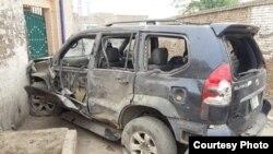 دھماکے کے بعد اکرام اللہ گنڈاپور کی گاڑی
