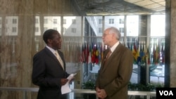 South Sudan in Focus' Washington host John Tanza and US Special Envoy for South Sudan and Sudan Donald Booth