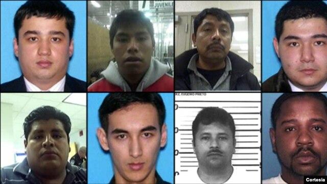 La lista de los más buscados incluye a 5 mexicanos, uno de Guatemala, tres de Uzbekistán y un estadounidense. [Foto: Cortesía, ICE].