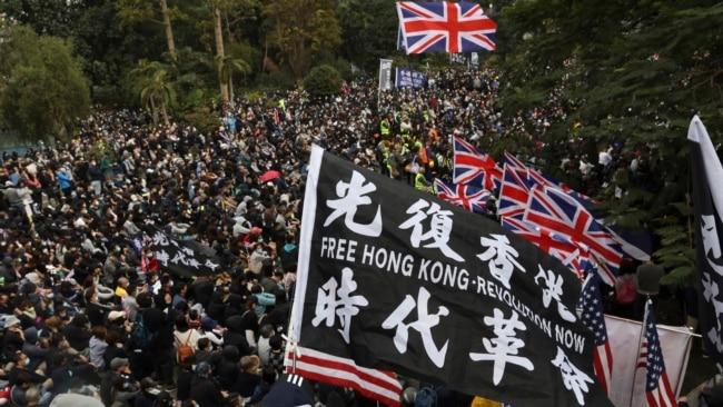 香港抗议民众(资料图)