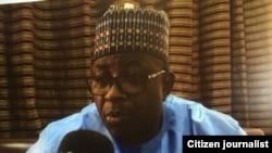 Gwamnan Bauchi M.A. Abubakar wanda ya kaddamar da shirin gwamnatin tarayya na baiwa kananan 'yan kasuwa tallafi da lamunin kudi
