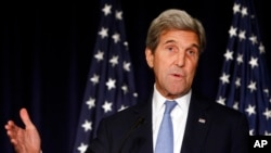 美国国务卿在纽约发表谈话。他说,如果俄罗斯和叙利亚政府不停止攻击阿勒颇,美国就停止同俄罗斯就叙利亚问题的所有接触