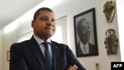 Jean-Louis Billon, ancien ministre du Commerce et porte-parole adjoint du Parti démocratique de la Côte d'Ivoire (PDCI), parti de l'ancien président Laurent Gbagbo, lors d'un entretien accordé à Agence France Presse à Abidjan, le 27 mars 2018.